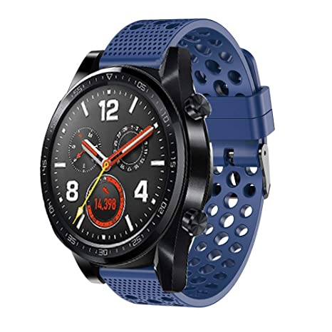 Ceston Clásico Deporte Silicona Correas para Smartwatch Huawei Watch GT (Azul)