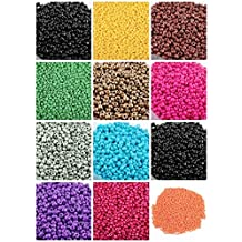 ILOVEDIY Czech Glass Seed Beads Bulk for Jewelry Making Bracelets 1350pcs (Mixed Randomly)