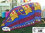 Barcelona Fc Football Club Official Licensed Multipurpose Thin Comforter Size 60''x80'' (La Liga Soccer)