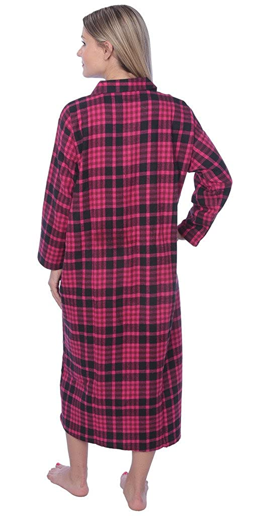Beverly Rock 5A# Women\'s Full Length Brushed Cotton Flannel Plaid ...