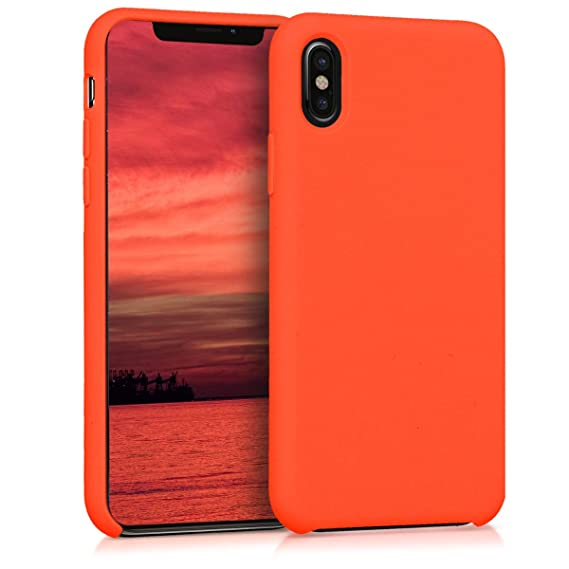 quality design b1c0e 8815d kwmobile TPU Silicone Case for Apple iPhone X - Soft Flexible Rubber  Protective Cover - Orange