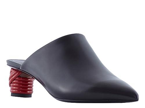 Balenciaga Tacones Puntiagudos Zapatillas de Cuero Negro - Número de Modelo: 454455 WADH0 1000 - Tamaño: 39 EU: Amazon.es: Zapatos y complementos