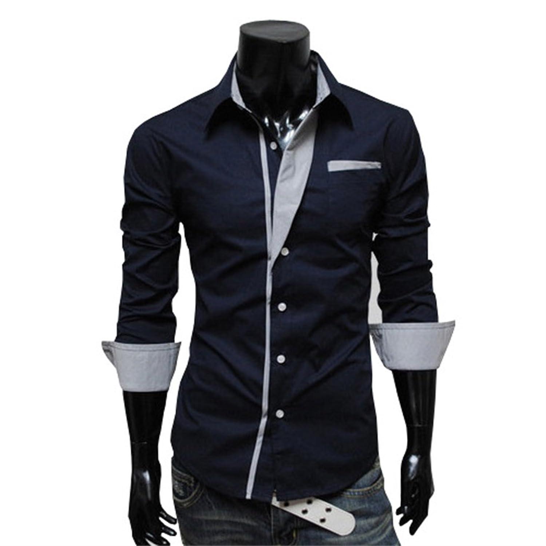 Honghu Herren Slim Fit Langarm Button-down Klassischer Hemdkragen Business  Hemden: Amazon.de: Bekleidung