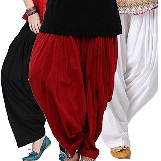 Amazon.com: Sharvgun Combo Womens Cotton Punjabi Patiala ...