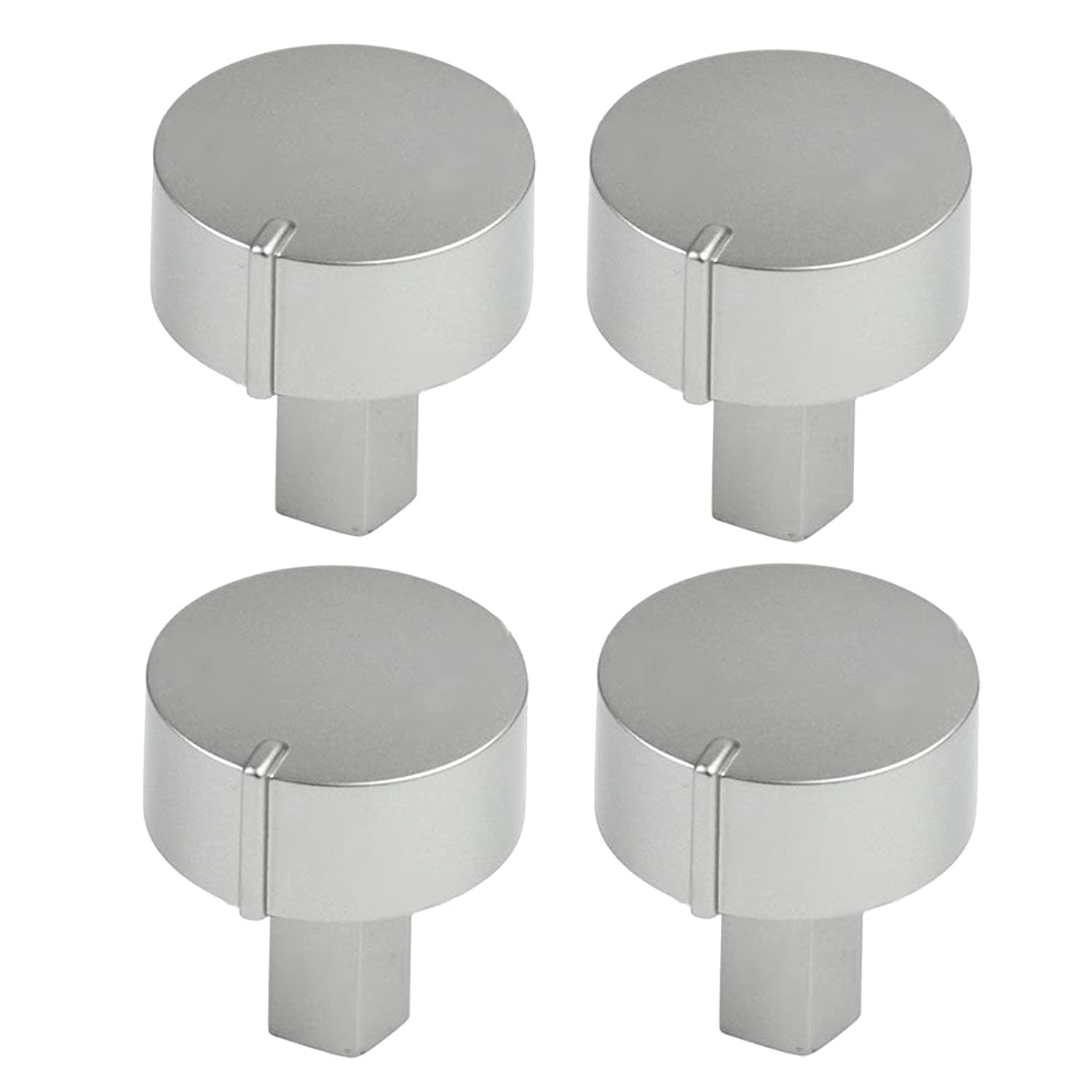 Silver, Pack of 3 Diplomat ADP Series Oven Cooker Hob Control Switch Knobs