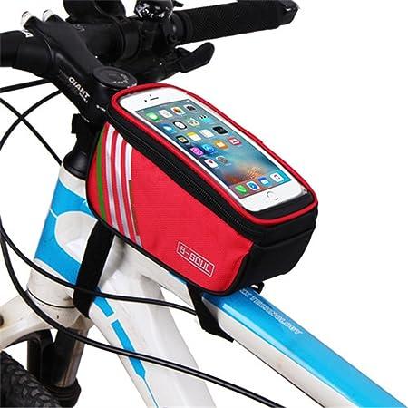 Paquete de cuadro de bicicleta Bolsa trasera con bolsa trasera Bolsa for bicicleta Bolsa for sillín de bicicleta Bicicleta de carretera MTB a prueba de lluvia Bolsa para guardar bicicletas delanteras: Amazon.es: