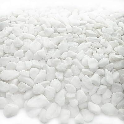 JZMYXA Aquarium Decorative Sands White Gravel Pebbles Fit