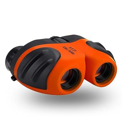Amazon Best Toys For 4 9 Year Old Boys Happy Gift 8x21 Compact Waterproof Travel BinocularsBest Gifts Kids Orange Camera Photo