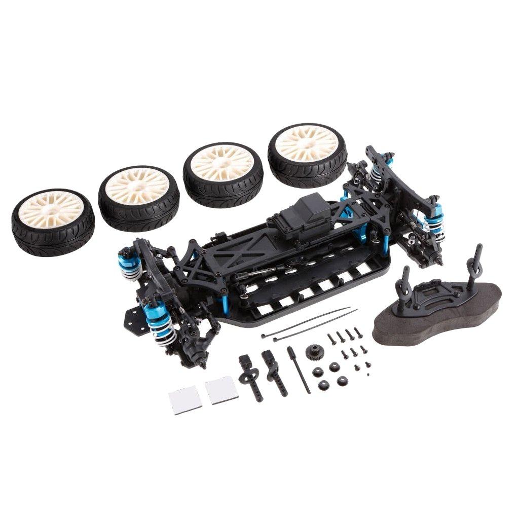 Baoblaze Kit Telaio Per Auto In Lega Di Alluminio 1 10 4WD RC Per LRP HSP Traxxas