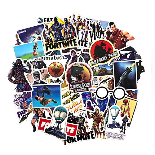 Fortnite Stickers 46pcs – Fortnite Gaming Decal Stickers Kids Birthday Party Favors Supplies Decorations by Fort Supply