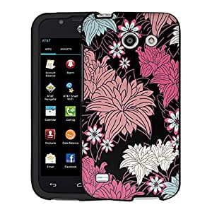 AT&T Fusion 3 Case, Snap On Cover by Trek Colorful Lillies on Black Case