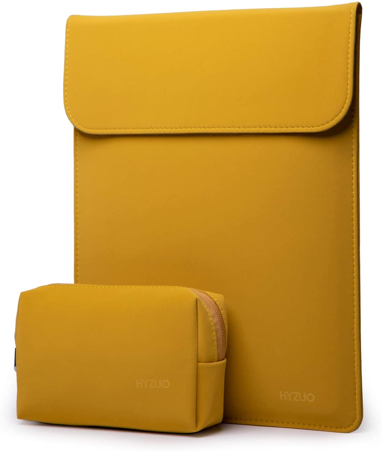HYZUO 15-16 Inch Laptop Sleeve Case Compatible with 2019 MacBook Pro 16 A2141/ Surface Laptop 3 15 Inch/Dell XPS 15/2012-2015 Old MacBook Pro Retina 15 A1398, Olive Yellow
