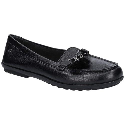 b1d1bac59b8 Hush Puppies Womens Ladies AIDI Leather Puff Loafers (5 US) (Black)