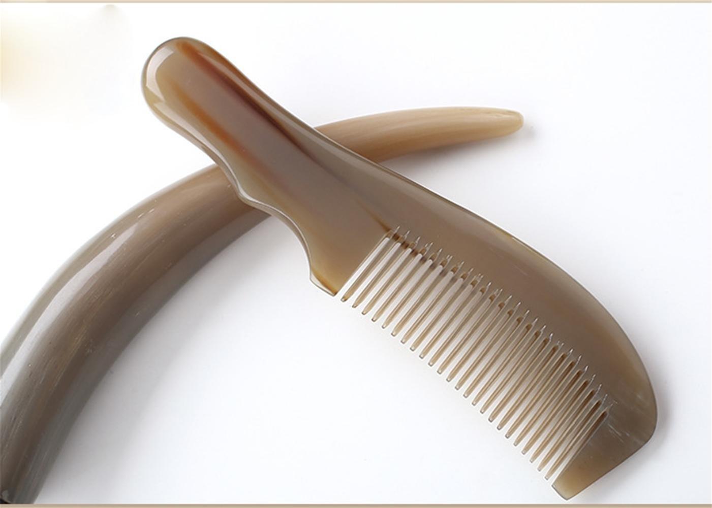 GuiXinWeiHeng Handmade white horns comb comb