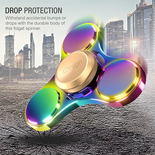 XDesign Fidget Spinner Rainbow Hand Focus Toy, [Hand Spinner] Anti-anxiety Depression Figit Spinner Ultra Durable High Speed Fidget Finger Toy for Children and Adults, Great for Work, Class and Home