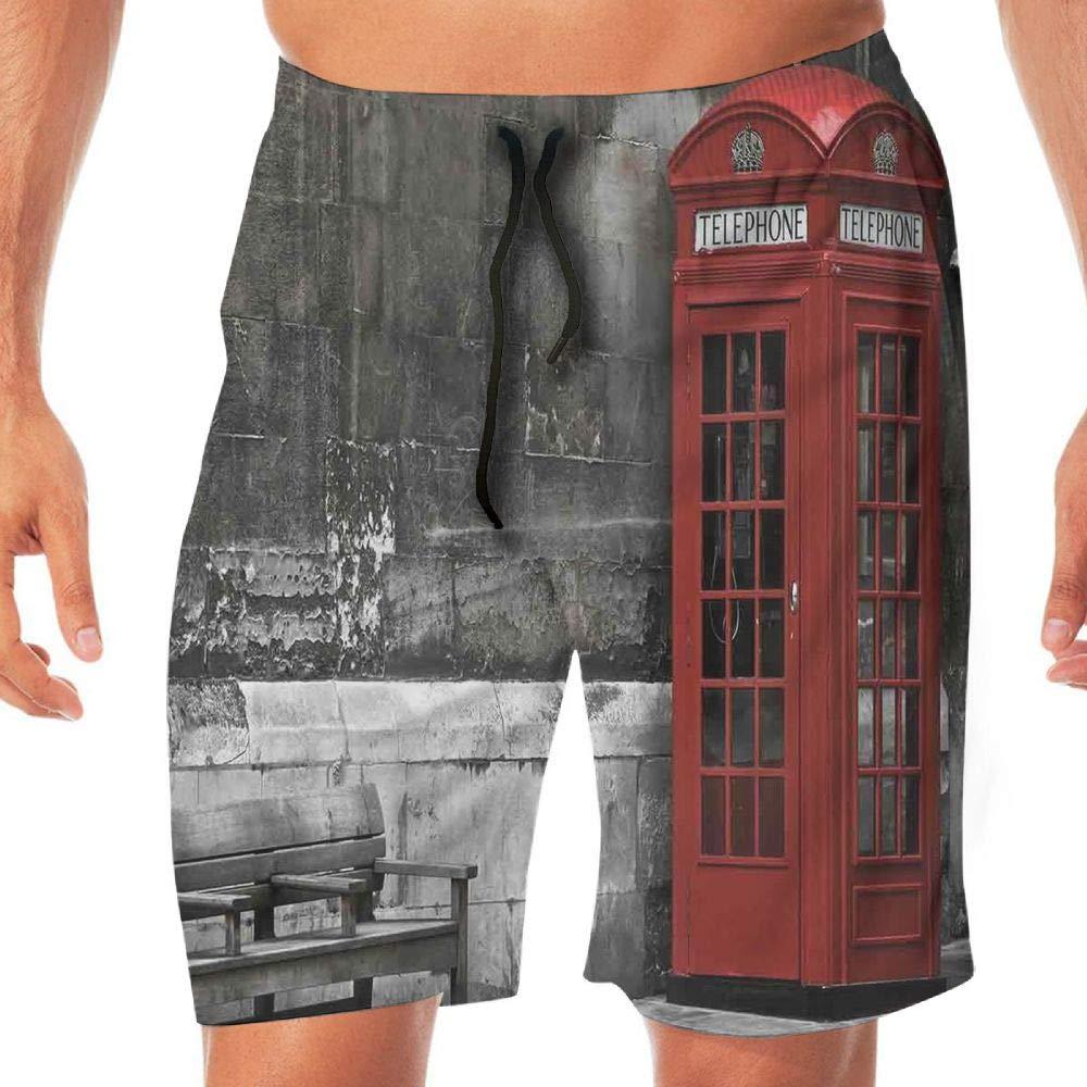 Haixia Man Adjustable Boardshorts London Famous British Phone Boot in London S