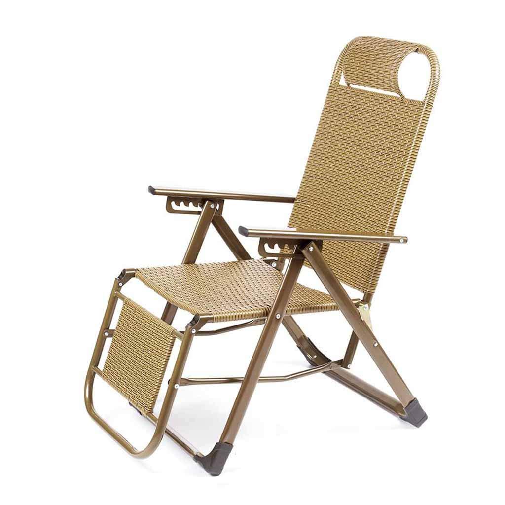 Sillón reclinable Plegable de Mimbre de Polietileno Sillas ...