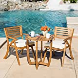 GDF Studio Toulon Teak Finish Acacia Wood 3pc Bistro Set Review