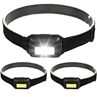 Garberiel 3 Pack Mini LED Headlamp 500 Lumens, 3 Modes Super Bright USB Rechargeable Headlight Zoomable Waterproof, Head Lamp for Camping Hiking Climbing