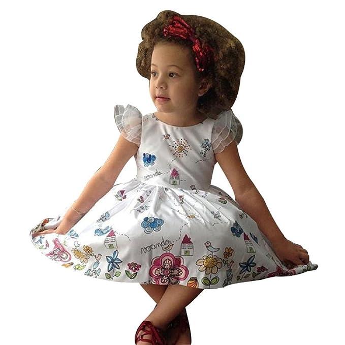 840338aad5c5 Culater® Ragazze di Estate dei Capretti Vestiti della Neonata di Vestito  con I Telai Girl Dress Personaggio della Principessa Dress Abbigliamento  Bambini  ...