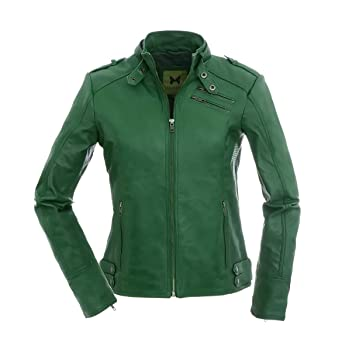 Magnifica Las Mujeres Deportivas-Chaqueta Piel, Color Verde ...