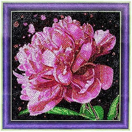 DIY 5D Diamond Painting by Numbers Kits Beautiful Flowers Full Drill Rhinestones Paint with Diamonds Crystal Diamond Art Flowers
