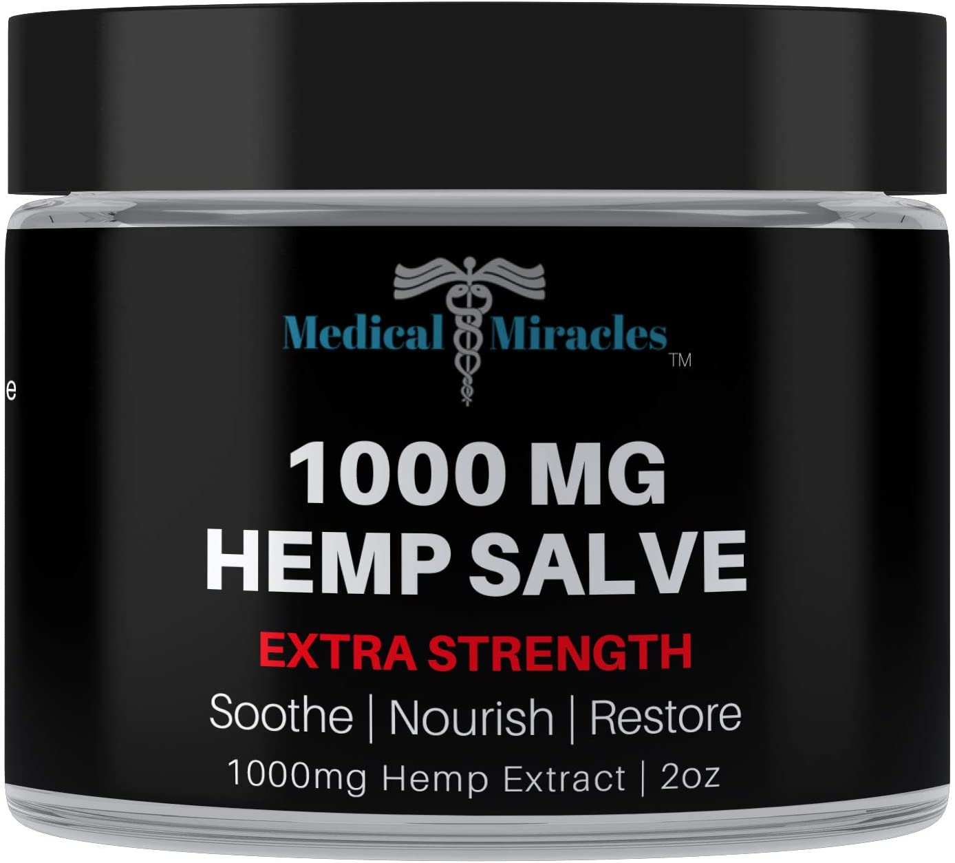 Medical Miracles Hemp 1000 Mg Extra Strength Healing Salve | 100% Natural Cream Relieves Inflammation, Muscle, Joint, Knee, Nerve, Arthritis Aches & Pain | Fast Acting, Maximum Power, Quick Relief