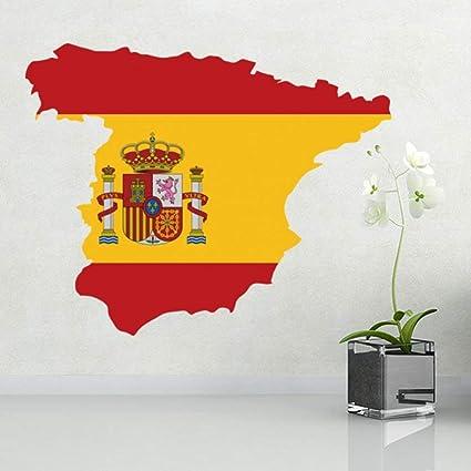 DIYthinker Mapa de la Bandera de la Etiqueta engomada España Pared ...