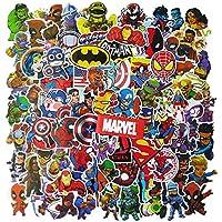 Juego de 100 Pegatinas de Superhéroes Marvel Vinilos para niños,Pegatinas de Coche para Snowboard, Laptop,teléfono Mac…