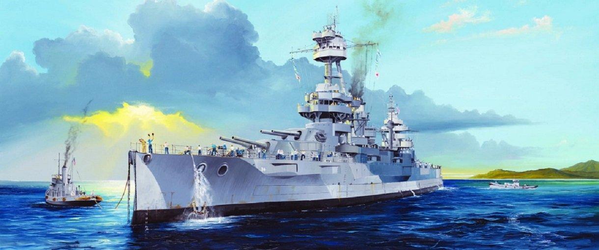Trumpeter USS New York BB-34 Battleship Building Kit (1/350 Scale)