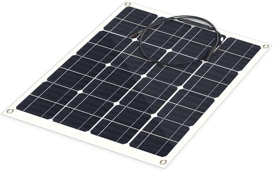 ALLPOWERS Solar Panel 50W 18V 12V Flexible Solar Charger Monocrystalline Lightweight Solar Module Kit with MC4 Connector Charging for RV Boat Cabin Tent Car Compatibility with 18V and Below Devices