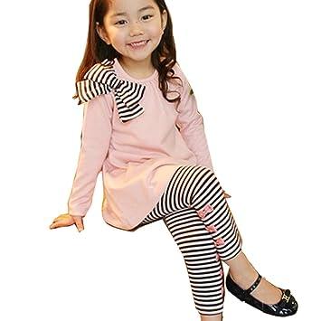 US Kids Baby Girls Long T-shirt Tops Bib Pants Leggings Playsuit Outfits Clothes