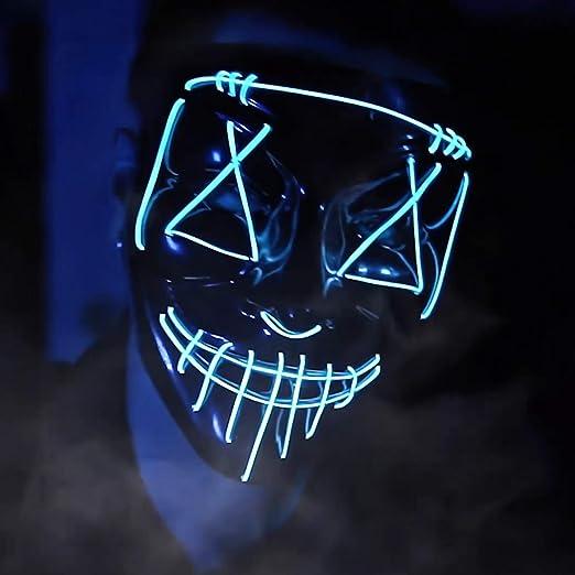 Amazon.com: Máscara de Purga LED de Halloween para iluminar ...