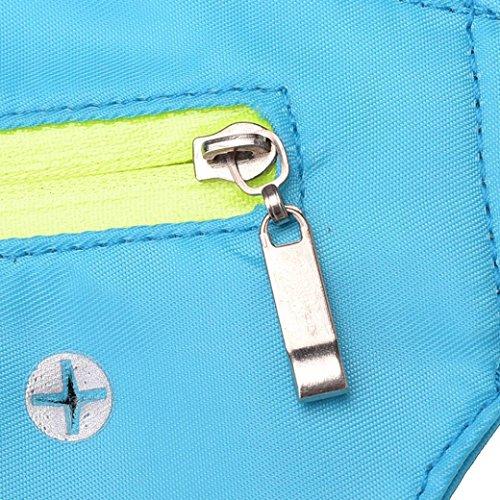 Bolsillos variedad Auriculares de Correr Con para Paquete Azul Gris Y De De colores De elegir Multiuso Nylon Cintura Cielo Con Cinturón Impermeable Gusspower Una Cremallera 7wxvq4Tx