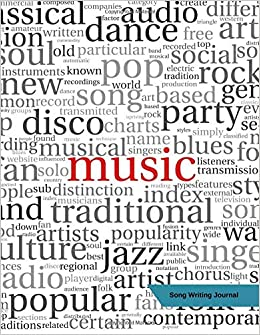 Amazon com: Song Writing Journal: Blank Music Manuscript