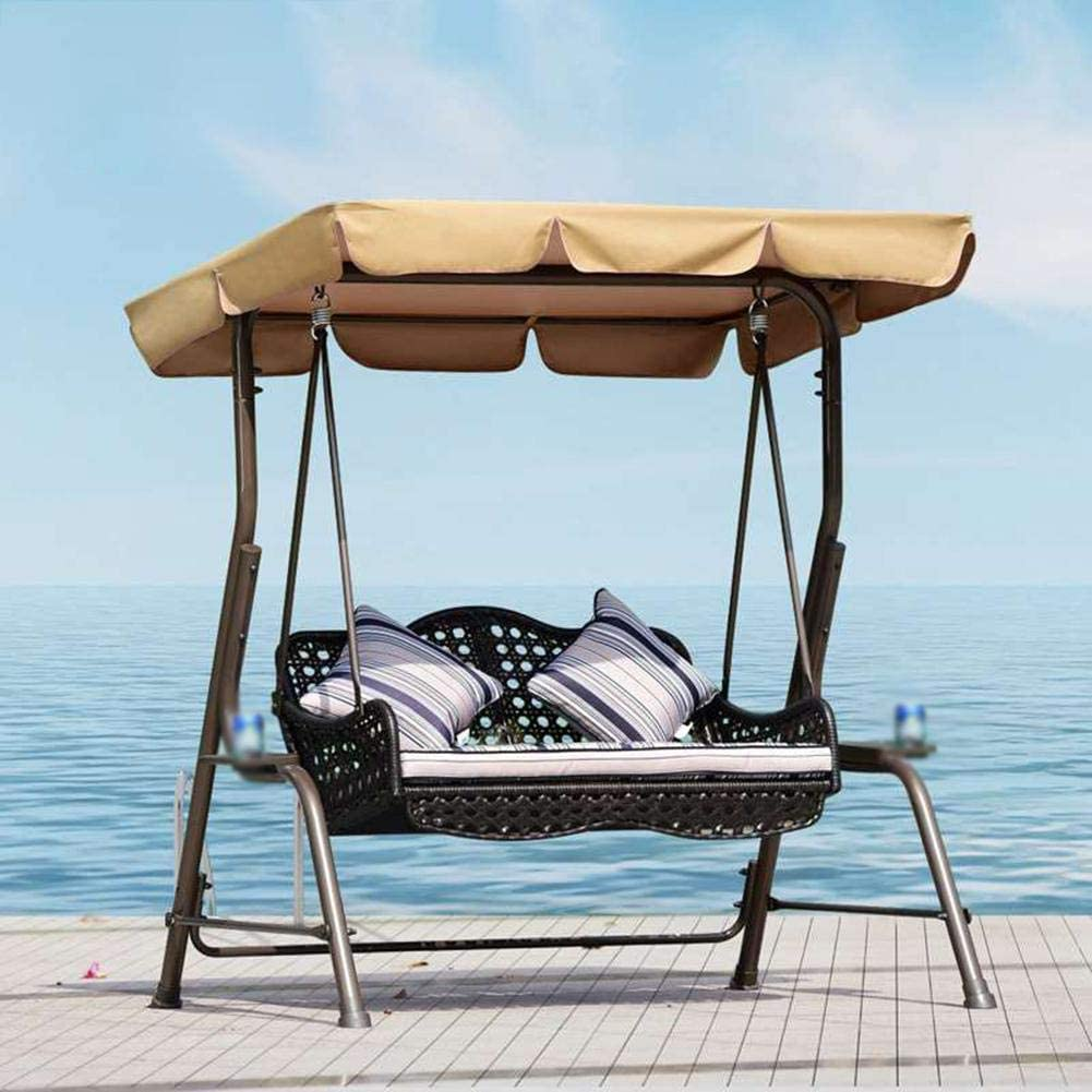 PROKTH Swing Canopy Cover Replacement 83X57//75X52,Oxford Cloth Garden Swing Chair Canopy Cover Heavy Duty UV Block Sun Shade Waterproof for Outdoor