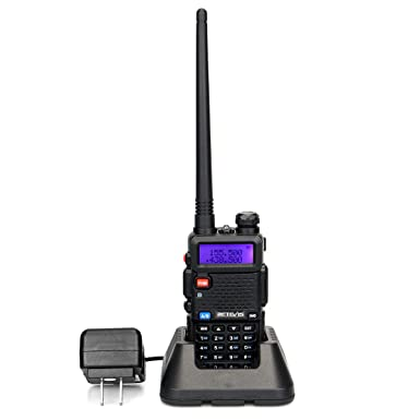 Retevis RT-5R 2 Way Radio 128CH VHF UHF 1400mAh VOX FM Walkie Talkie 1 Pack