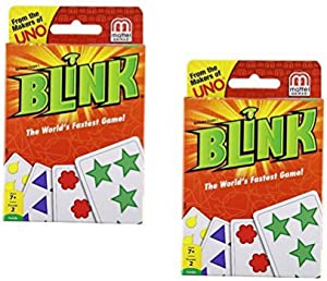 Mattel Games Blink Card Game The World's Fastest Game- 2 Pack