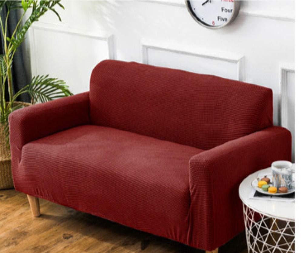 Hhjj Sofa Abdeckung Stretch volle Couch abdeckungen Leder schützen l Form möbel Liege Abdeckung Set Dekoration Wohnzimmer Sofa Handtuch-2_145-185cm 2-Sitzer Sofa
