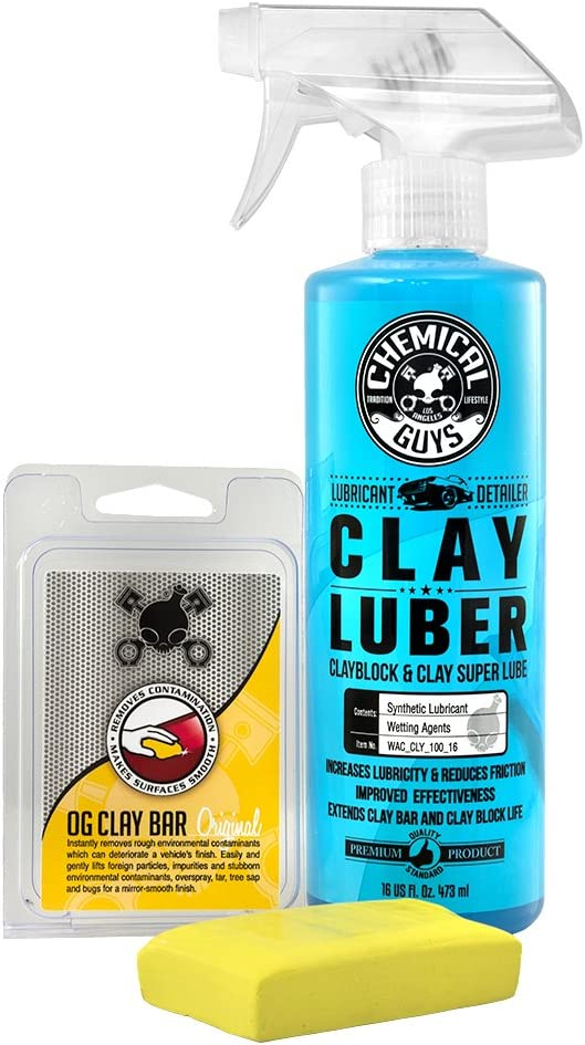 Chemical Guys CLY_113 OG Clay Bar & Luber Synthetic Lubricant Kit
