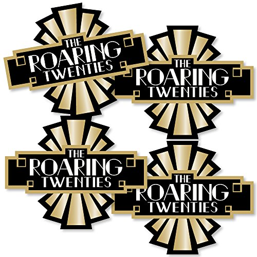 Roaring 20's - Art Deco DIY 1920s Jazz Party Essentials - Set of (Great Gatsby Table Centerpieces)