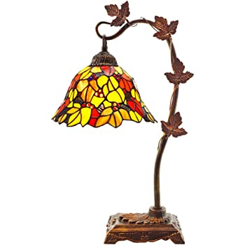 Tiffany Style Stained Glass Table Lamp 23 Inch Victorian