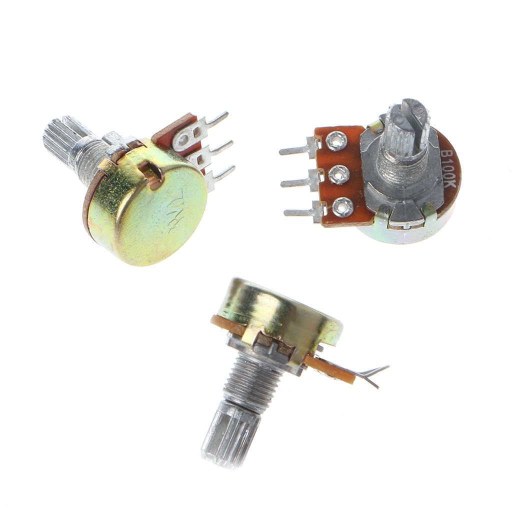 Potentiometer Set 10 Pcs B1K 2K 5K 10K 20K 50K 100K 250K 500K 1M for WH148 Single Linear by Aiyouxi