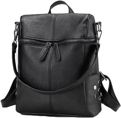 AOWEI EC Mujer mochila de cuero mochilas de piel bolsas tipo ...