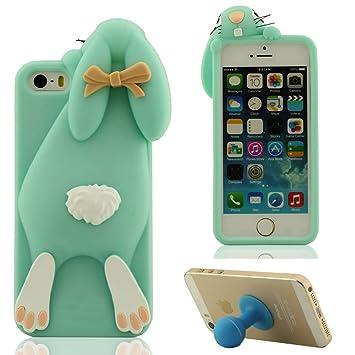 coque iphone 5 silicone lapin