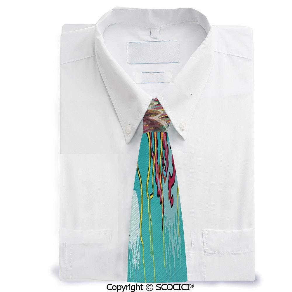 SCOCICI Corbata de cuello para hombre, diseño de medusas en fondo ...
