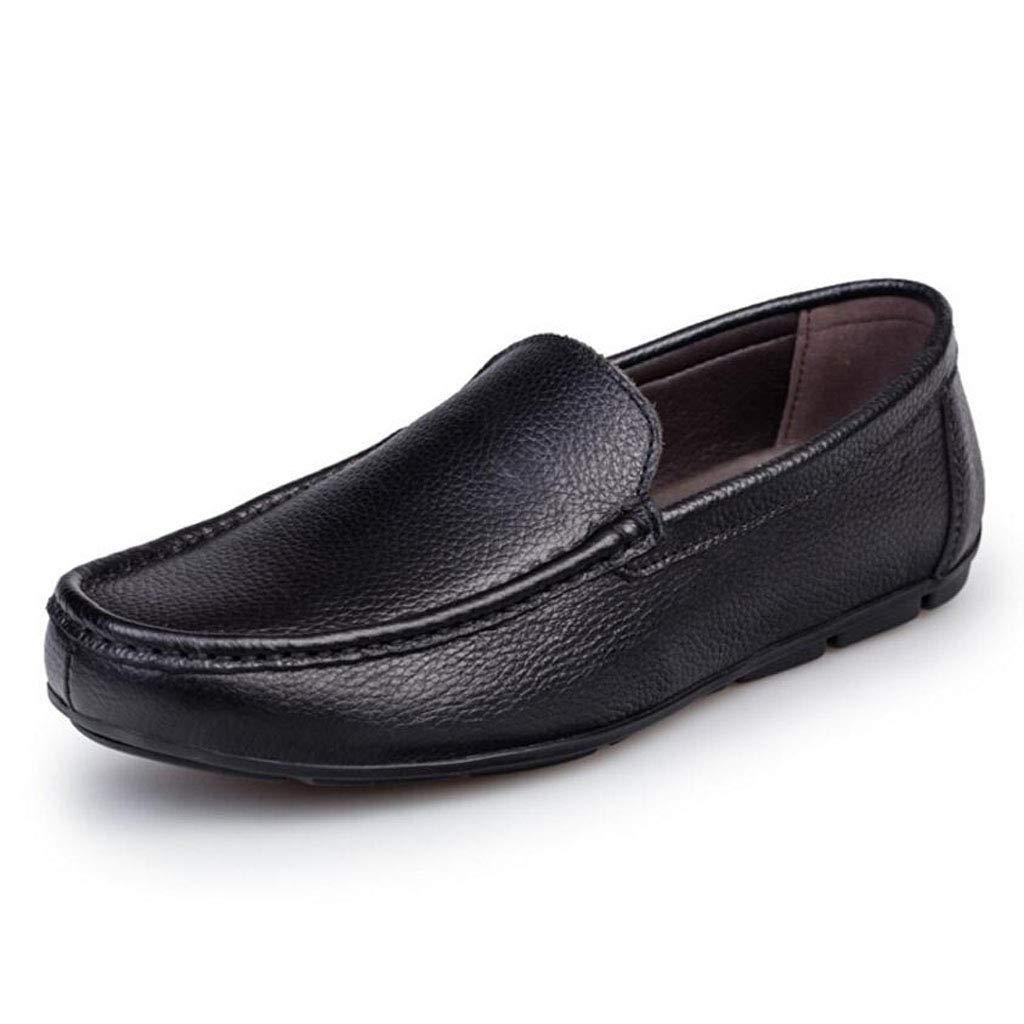 Zxcvb Herren Leder Loafers Casual Runde Zehe Mokassins Wild Driving Wohnungen Schuhe