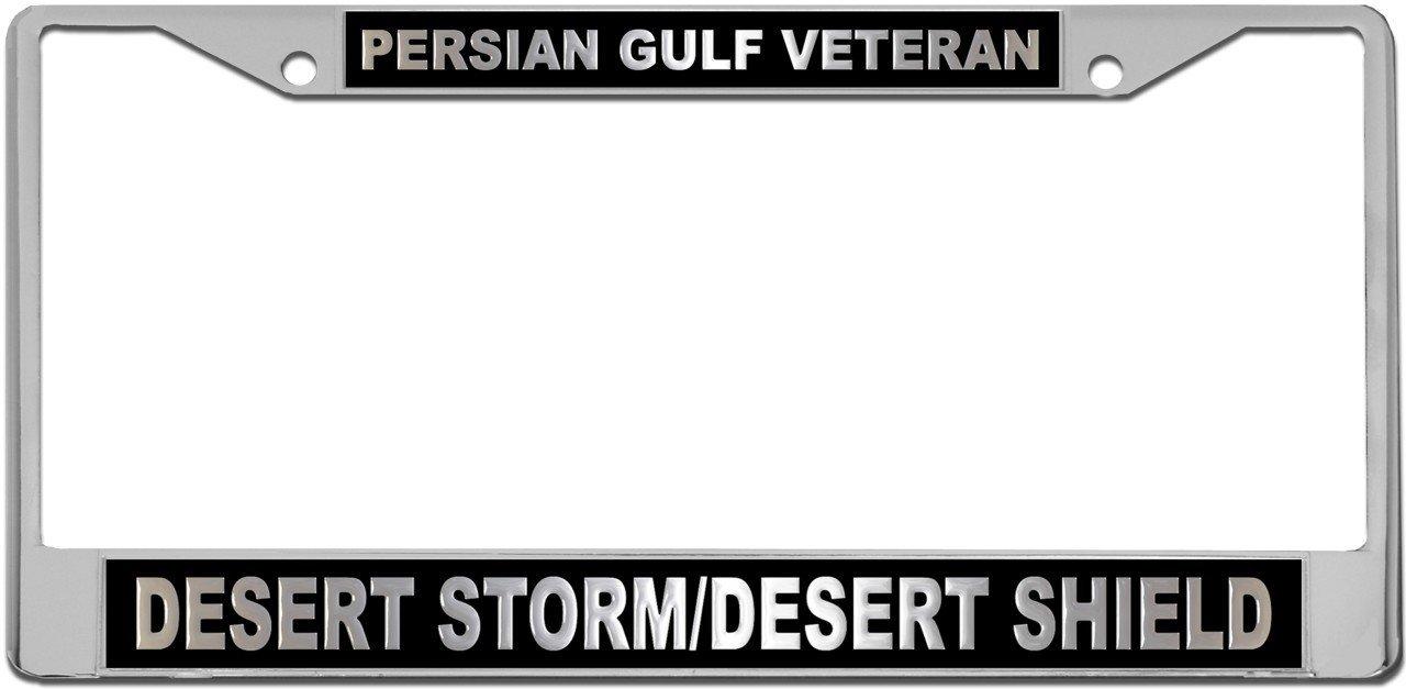 Amazon.com : Desert Storm/Shield Veteran License Plate METAL Frame ...