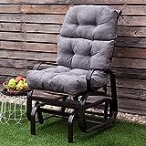 44 Home Garden Yard High Back Tufted Pillow Chair Cushion 44x22x5 2 Colors