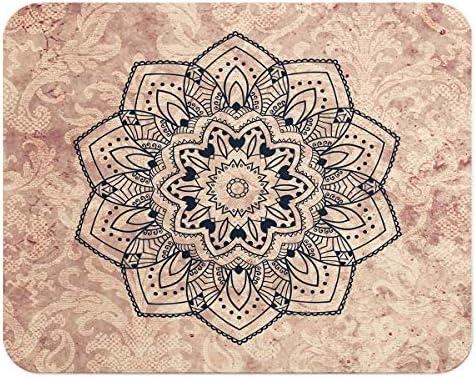 Loud Universe Boho Vintage Wallpaper With Black Mandala Flexible